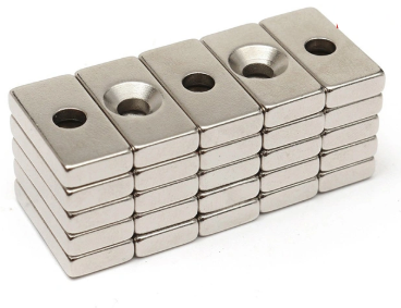 Customized Block Shape Countersink Magnets