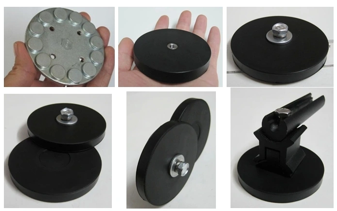 D88 Neodymium Rubber Coated Pot Magnets