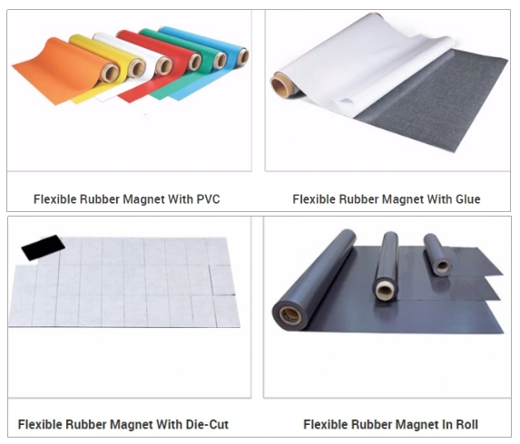 Flat Thin Flexible Permanent Rubber Magnet Sheet
