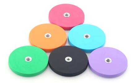 colorful rubber coated pot magnets manufacturer