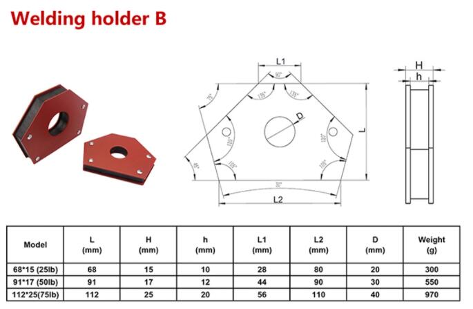 Multi-angle Magnetic Welding positioner Holder
