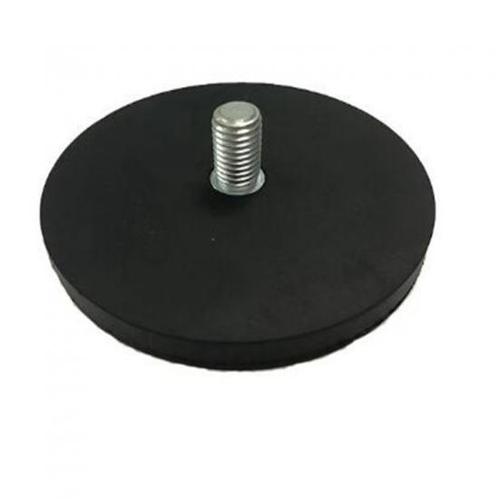 Rubber Covered Neodymium Pot Magnet with External Threaded