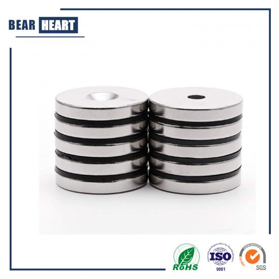 Rare earth countersunk magnets