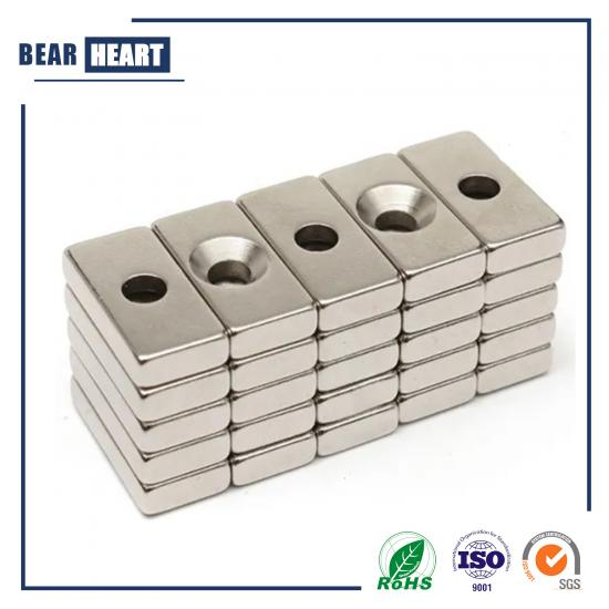 Rare Earth NdFeB Block Magnet with Countersunk