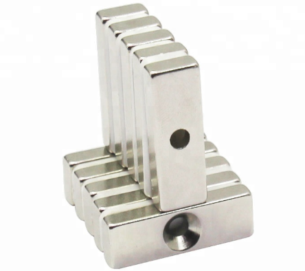 Strong Countersunk Block Magnets