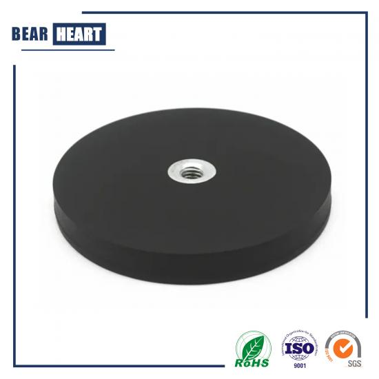 Neodymium Magnet Base with Rubber Coated