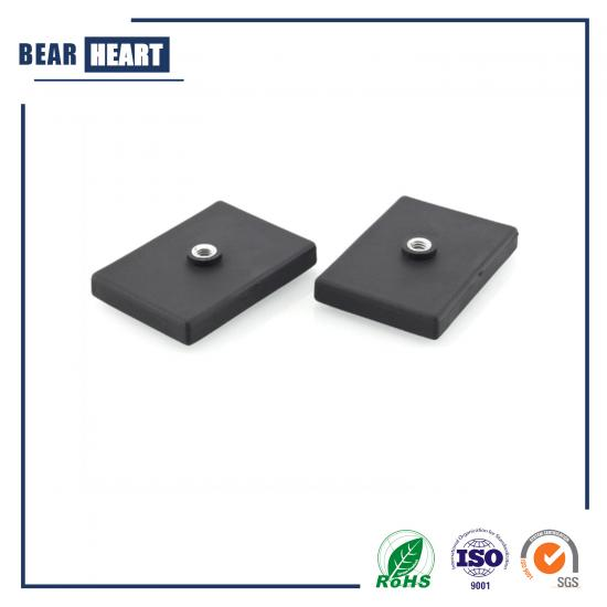 High Quality Customized Rubber Coated Flat Holding Magnets
