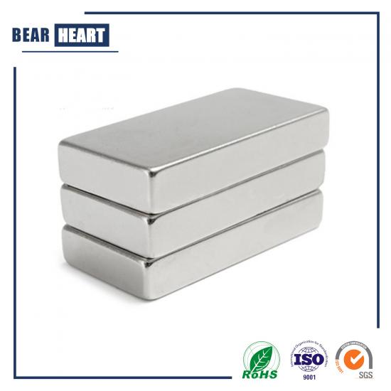 F2x1x1/2 N52 Magnet with Nickel Coating
