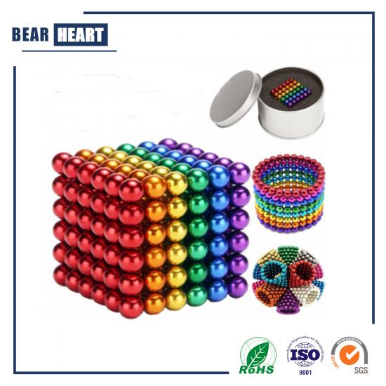 Color Magnetic Cube Magic Balls 216pcs 3mm 5 mm