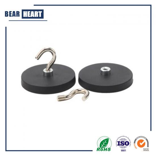 D43 Neodymium Rubber Coated Magnet with Hook