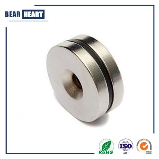 strong neodymium countersunk ring magnet